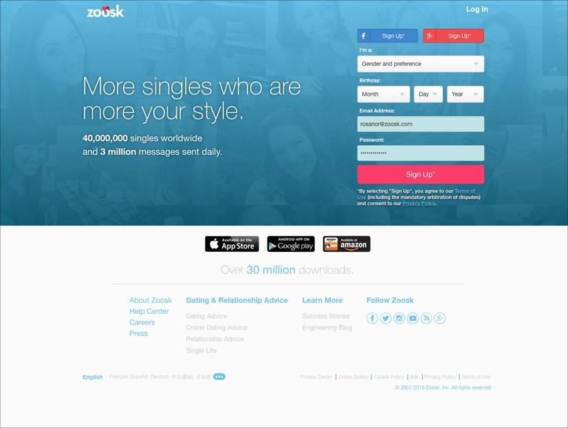 zoosk login full site